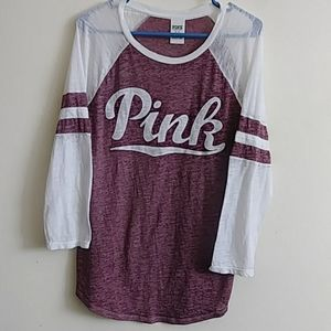 PINK by Victoria's Secret burnout baseball style